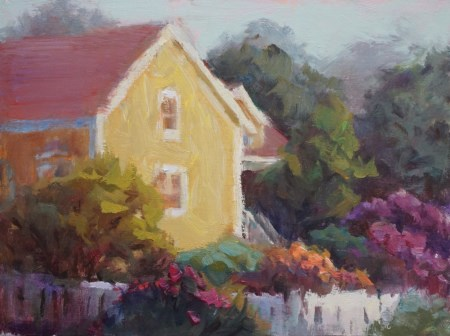 """Corner House Mendocino"" original fine art by Carol Myer"