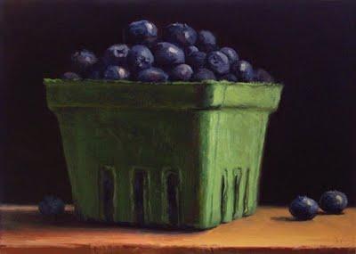 """Maine Blueberries"" original fine art by Abbey Ryan"