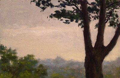 """Distant Treetops"" original fine art by Abbey Ryan"