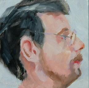 """""""FACE No. 28"""" original fine art by Linda Popple"""