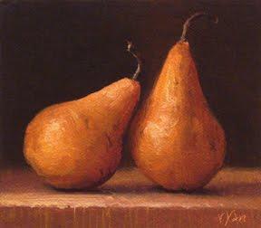 """Still Life with Bosc Pears No. 2"" original fine art by Abbey Ryan"