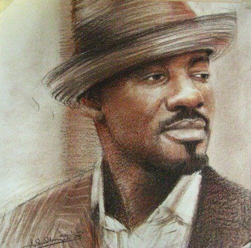 """""""The Classic Chris"""" original fine art by Adebanji Alade"""
