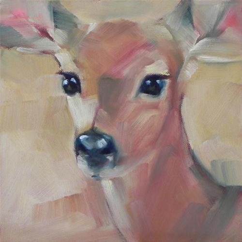 """""""Young Deer"""" original fine art by Cheryl Wilson"""