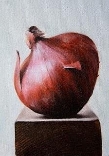 """Red Onion"" original fine art by Jonathan Aller"