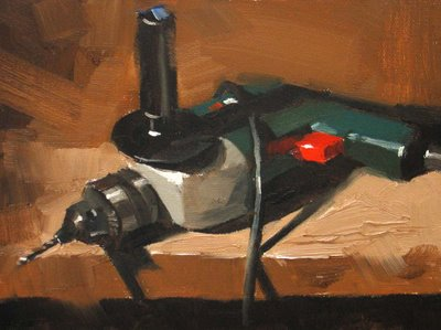 """""""Ready for Work"""" original fine art by Qiang Huang"""