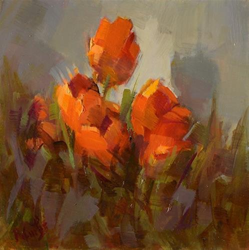 """""""Tempest in a Tulip"""" original fine art by Rita Curtis"""