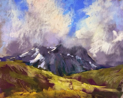 """Paint Iceland Trip Report Day Two"" original fine art by Karen Margulis"