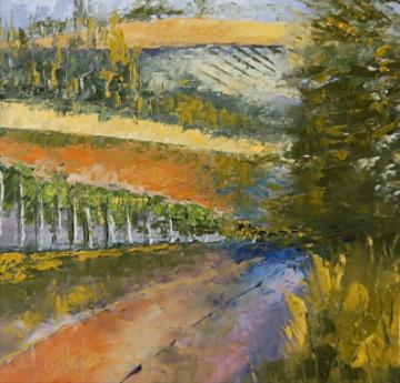 """White Rose Estate Winery #2"" original fine art by Deborah Harold"