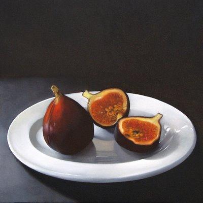 """Two Figs 8x8"" original fine art by M Collier"