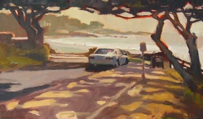 """Carmel by the Sea  California, coastal, plein air painting by Robin Weiss"" original fine art by Robin Weiss"