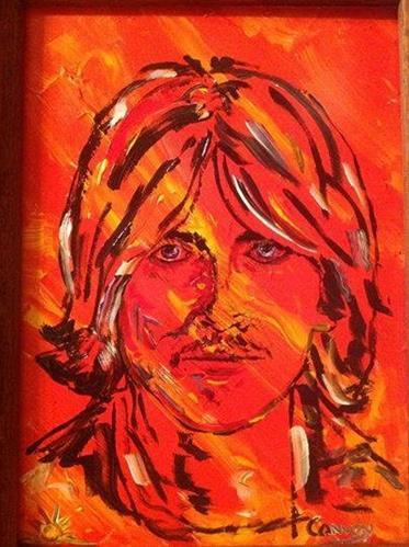 """George Harrison portrait "" original fine art by mark convoy"