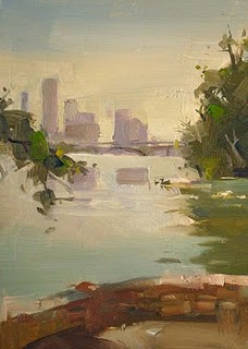 """Lou Neff Point"" original fine art by Qiang Huang"