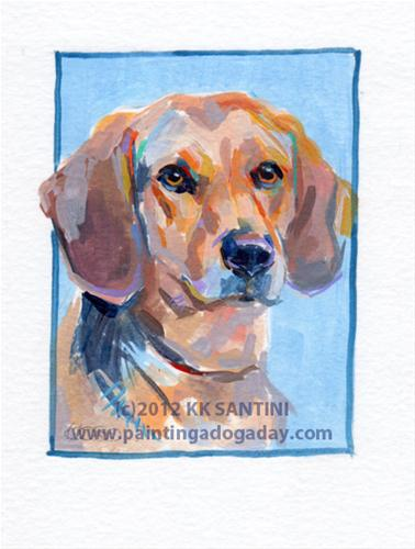 """""""Mo, A Painted Sketch"""" original fine art by Kimberly Santini"""