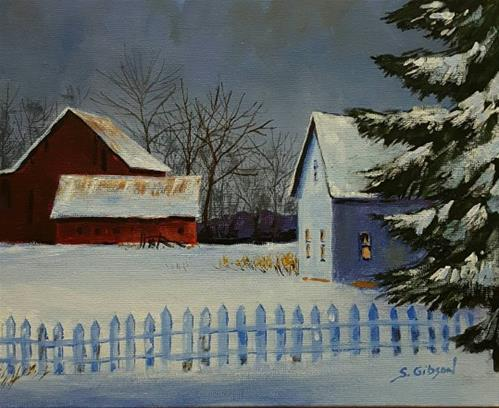 """Ted Baird's Farm House"" original fine art by Steve Gibson"