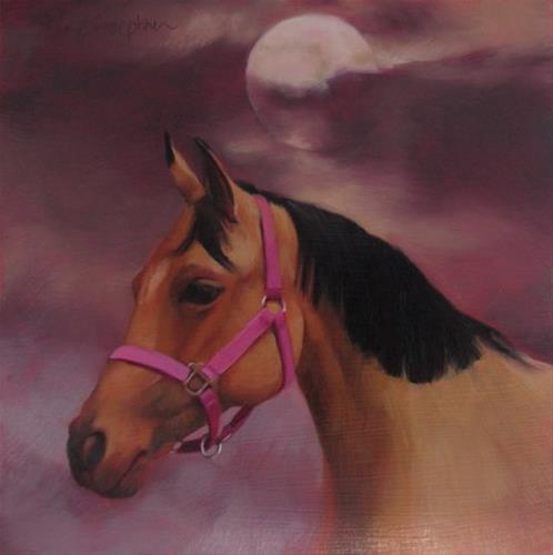 """Moon Over Marla"" original fine art by Diane Hoeptner"
