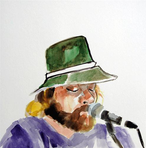 """Justin of Justif"" original fine art by Donna Crosby"