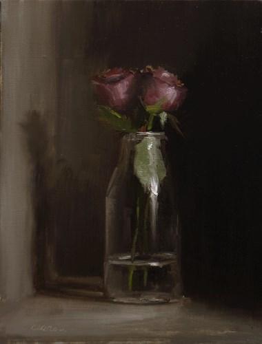 """Bottle of Roses"" original fine art by Neil Carroll"