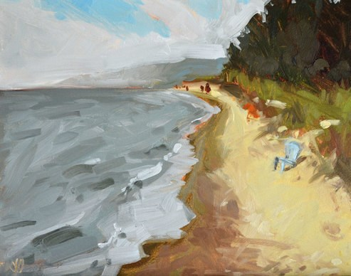 """Lake Michigan"" original fine art by Jessica Green"