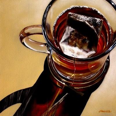 """Chamomile II"" original fine art by Jelaine Faunce"