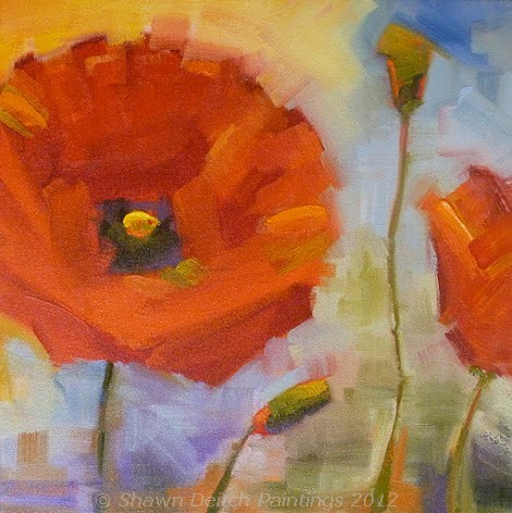 """Poppies"" original fine art by Shawn Deitch"