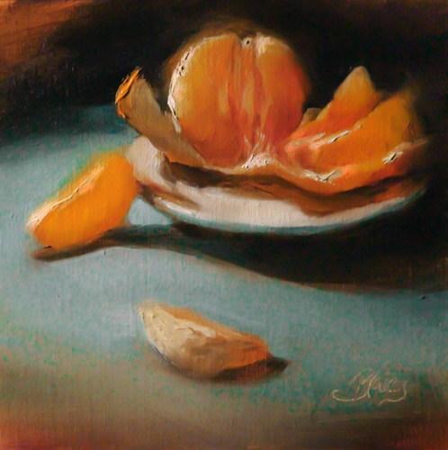 """A Peeling Complement"" original fine art by Pamela Blaies"