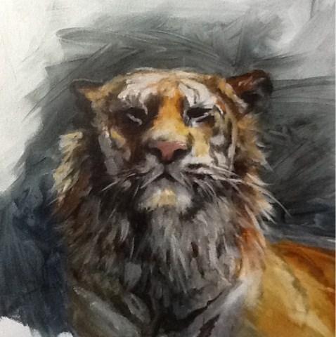 """Tiger, Animals"" original fine art by Diana Delander"