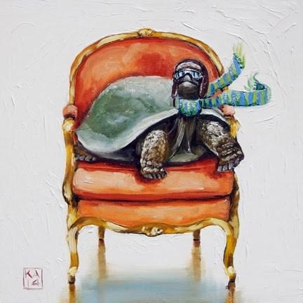 """contact!"" original fine art by Kimberly Applegate"