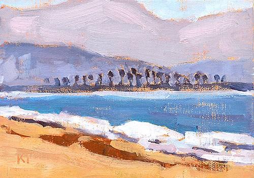 """""""Coronado, Looking South"""" original fine art by Kevin Inman"""