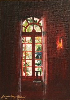 """The Light In The Dark Room"" original fine art by JoAnne Perez Robinson"