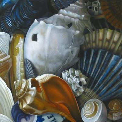 """Cape Cod Shells 8x8"" original fine art by M Collier"