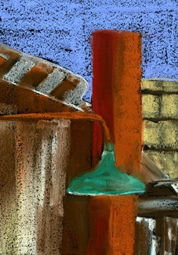 """""""Cropped View"""" original fine art by Donna Crosby"""