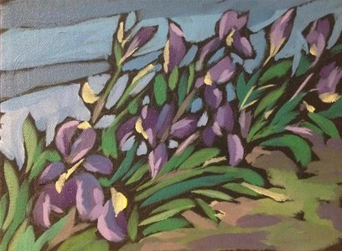 """Yard Flowers"" original fine art by Kat Corrigan"