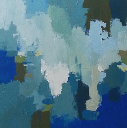 """""""Blue Cascade"""" original fine art by Pamela Munger"""