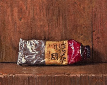 """""""Paint tube No. 7    (+ Thoughts on Trompe L'oeil)"""" original fine art by Abbey Ryan"""
