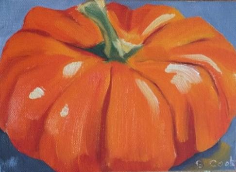 """proud pumpkin"" original fine art by Bobbie Cook"