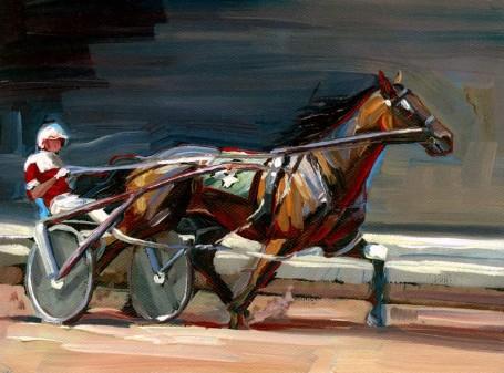 """Pacer"" original fine art by Lesley Spanos"