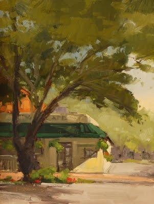 """4th of May Cafe"" original fine art by Laurel Daniel"