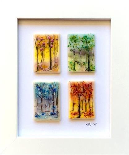 """Four Seasons Fused Glass Workshop"" original fine art by Kristen Dukat"