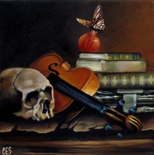 """Life, Sustenance, Knowledge, Composition, Death"" original fine art by ~ces~ Christine E. S. Code"