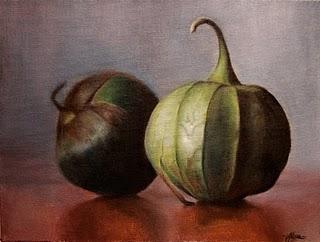 """""""Tomatillos..."""" original fine art by Jonathan Aller"""