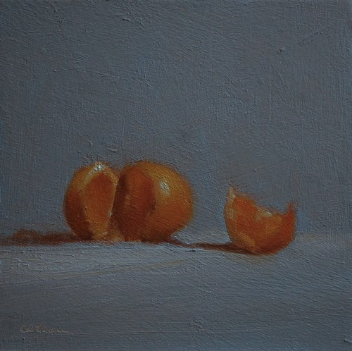 """Sliced Clementine"" original fine art by Neil Carroll"