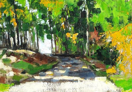 """Virginia Autumn Woods"" original fine art by Kevin Inman"