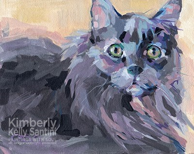 """""""Hidey and a Surprise"""" original fine art by Kimberly Santini"""
