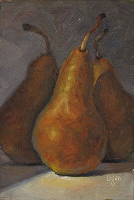 """Bosc Trio"" original fine art by Raymond Logan"