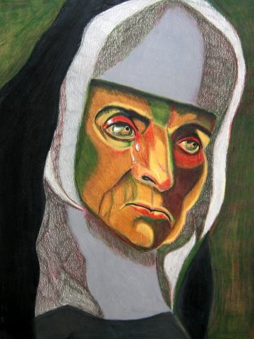 """Tyranny"" original fine art by Terri Brown-Davidson"