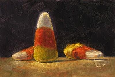 """Candy Corn"" original fine art by Raymond Logan"