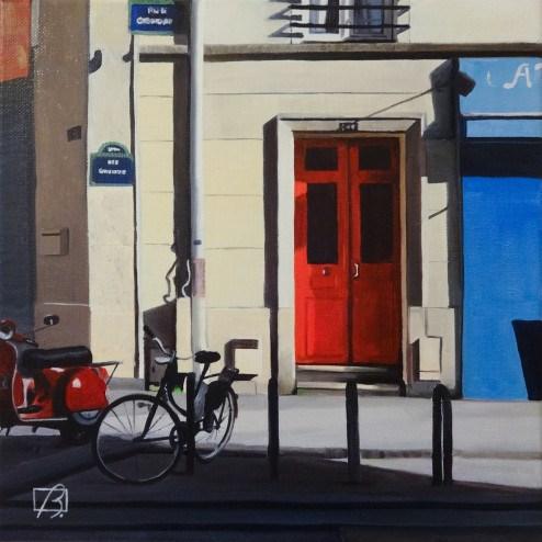 """French Doors"" original fine art by Andre Beaulieu"