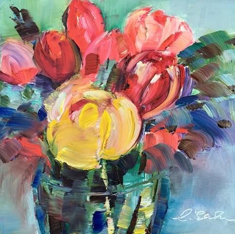 """Tulips"" original fine art by Lisa Fu"