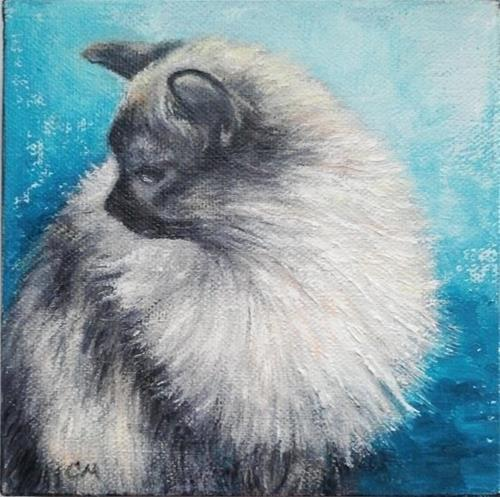 """Cat"" original fine art by Camille Morgan"