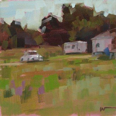 """""""Yard Bug --- SOLD"""" original fine art by Carol Marine"""